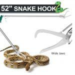 GYORGKSHI 52 Extra Long Snake Tongs Reptile Grabber Catcher, Stainless Steel & Wide Jaw Pick-up Handling Tool