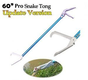 Ouronehome 60 Professional All-Aluminum Alloy Snake Tong Reptile Grabber Rattle Snake Catcher Wide Jaw Handling Tool with Lock and Comfortable Grip Handle