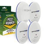 Pest Control Ultrasonic Repellent - Electronic Pest Control Repels Mice Rats Spiders Roaches Ants Snakes Rodents & Bats - Ultrasonic Pest Repeller Human & Quiet & with a Night Light