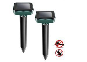 XMSTORE Mole Repellent, Upgrade 2 PCS Solar Powered and Ultrasonic Gopher